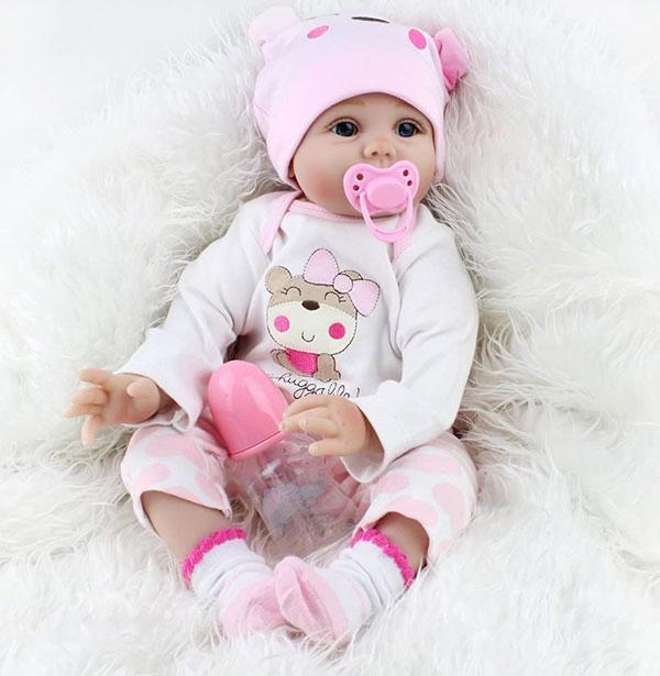 عروسک نوزاد لوسی سیلیکونی مینیاتوری (1)