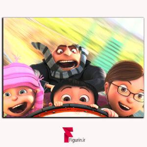 تابلو شاسی انیمیشن من نفرت انگیز ترن هوایی