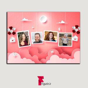 قاب عکس خانوادگی با عکس های دلخواه