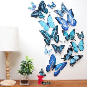 کاردستی استیکر دیواری سه بعدی طرح پروانه