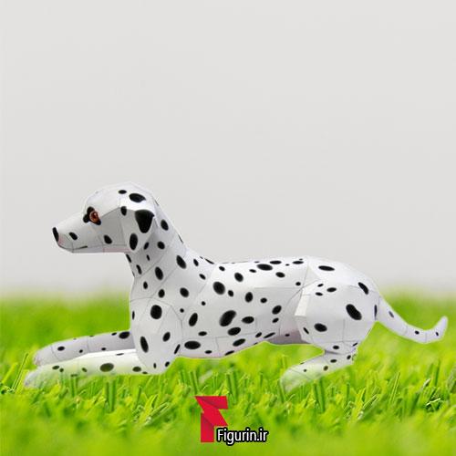 کاردستی عروسک کاغذی سگ خالدار (دالمیشن)