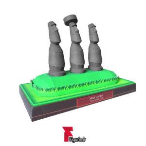 کاردستی ماکت کاغذی مجسمه های موآی