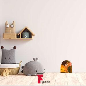 استیکر (برچسب) دیواری طرح خانه جری (موش)