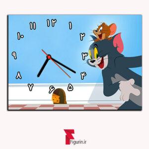 ساعت دیواری طرح تام و جری