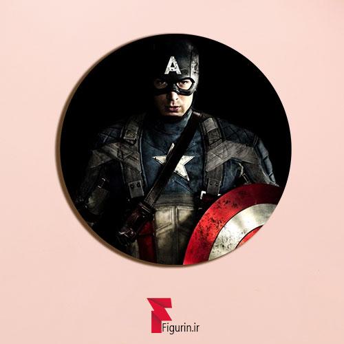 پیکسل چوبی طرح کاپیتان آمریکا